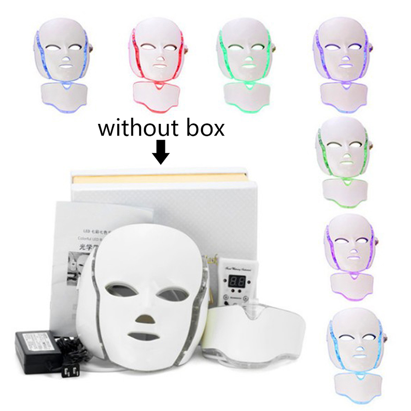 Anti Acne Wrinkle Removal Therapy Beauty Salon LED Facial Mask 7 Color Light Photon Tighten Pores Skin RejuvenationAnti Acne Wrinkle Removal Therapy Beauty Salon LED Facial Mask 7 Color Light Photon Tighten Pores Skin Rejuvenation