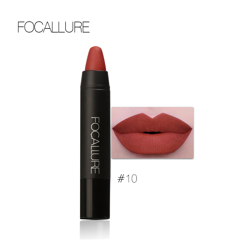 FOCALLURE 24 Colors Lip Stick Moisturizer Lipsticks Waterproof Long-lasting Easy to Wear Cosmetic Nude Makeup Lips 1