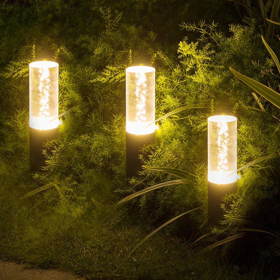 Thrisdar акриловый пузырьковый наружный садовый ландшафтный светильник для лужайки, вилла, дорожка, лужайка, столб, светильник для парка, двора, патио, столбик, светильник