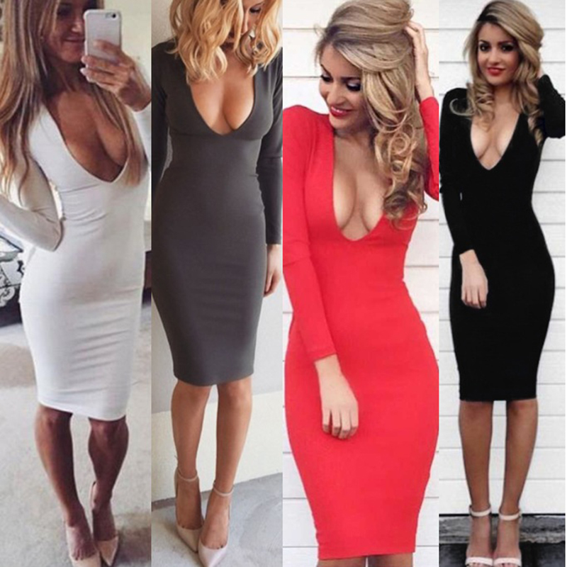 Solid Bodycon Dresses