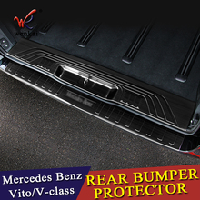 Rear Bumper Protector Threshold Plate Cover Sill Trim For Mercedes Benz Metris Valente Vito Viano V-Class W447 2016 2017 2018