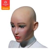 EYUNG Эльза Ангел Уход за кожей лица силиконовые реалистичные женские маски для хеллоуина Маскарад косплэй Трансвестит, человек, переодевающ