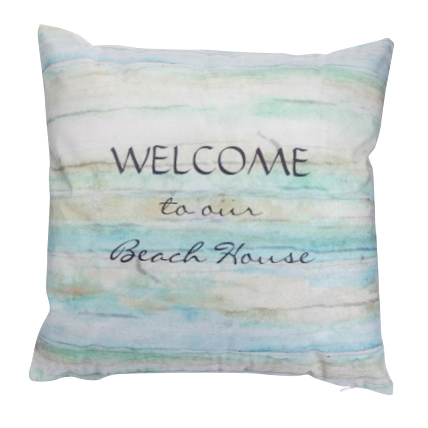Ouneed 45x45cm welcome to my beach house cushion cover - Housse de coussin 72x72 ...
