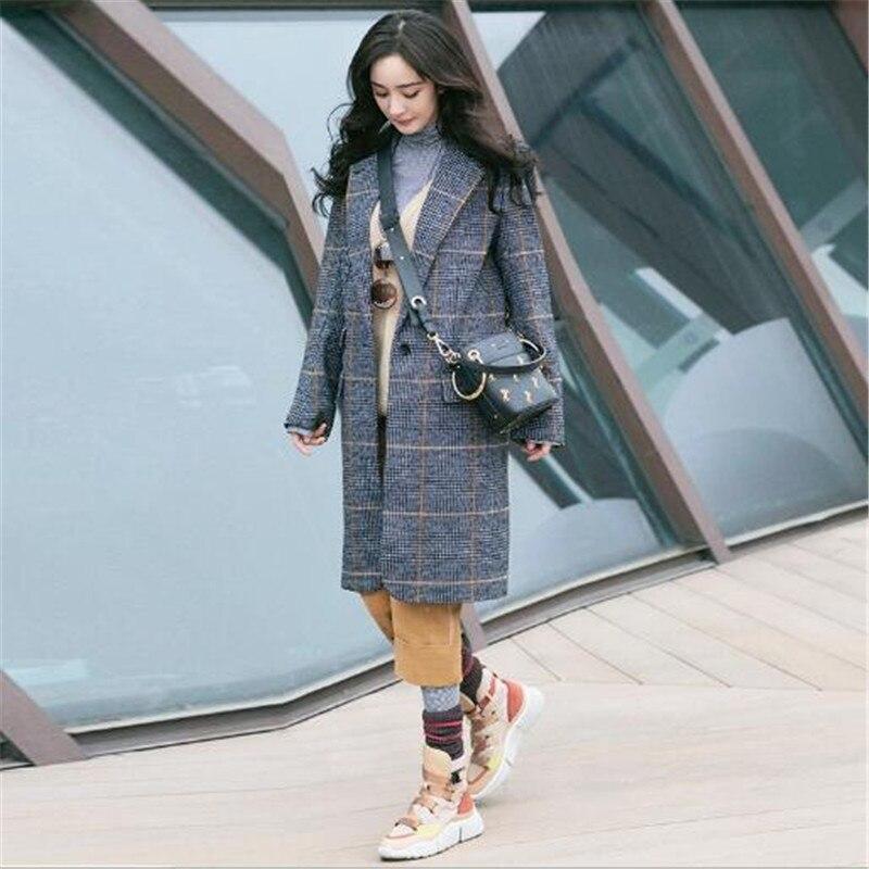 Picture Vêtements Même Et Mode Matching Nouveau Coupe 2018 Couleur De Le Revers Grille Femmes Femme vent Manteau Style Étoiles Color Avec rrwqxFPdH