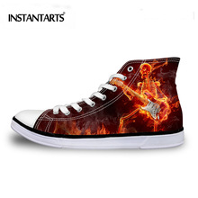 INSTANTARTS Men's Vulcanize Shoes Male Brand Design Cool Fla