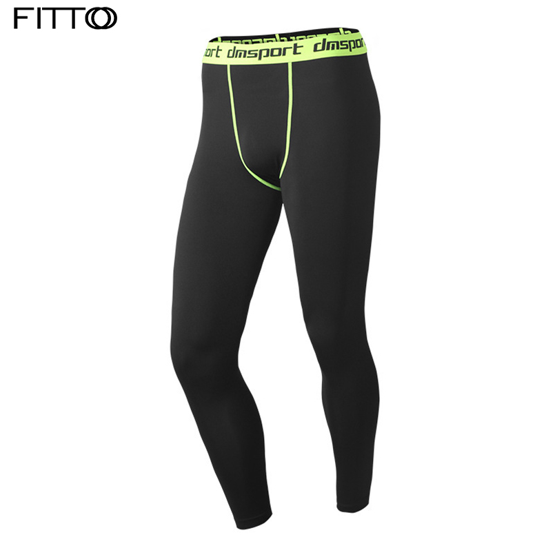 Men Sports Apparel Skin Tights compression pants base under layer workout leggings Mens  ...