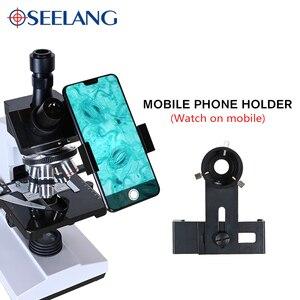 Image 3 - Professional Lab biological HD trinocular microscope zoom 1600X eyepiece electronic digital 7 inch LCD led Light phone stand USB