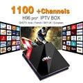 S912 H96pro + IPTV Android Set Top Box Poderoso 3G 32G H.265 Frete 1100 + Árabe Francês Turco canais Receptor de IPTV Europa