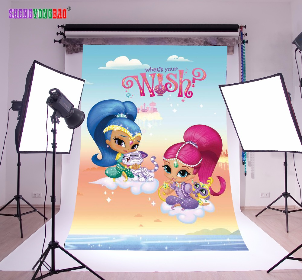 SHENGYONGBAO Vinyl Custom  Photography Backdrops Prop Shimmer and shine Cartoon Theme Background SS-00027