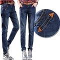 2017 novo Ocasional Outono grande tamanho de jeans femininos harem pants calças soltas pant calças leggings pantalon casuais para a Mulher 26-40 C & CD26
