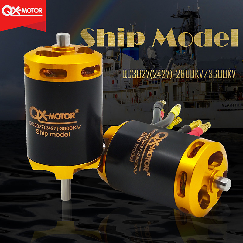 High Speed QX MOTOR 3027 3600KV DC Brushless Motor DIY RC Coreless Strong Torque Toy Car Ship Boat Plane Model Repair Tool in Parts Accessories from Toys Hobbies