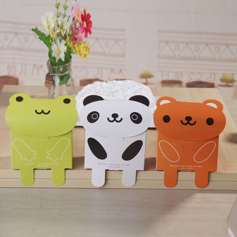 50pcs Lot Cute Frog Bear Panda Candy Box Baby Shower