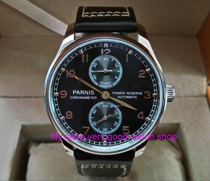Здесь продается  43mm PARNIS black dial ST25 Automatic Self-Wind movement men