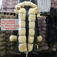 free shipping women real fur coat popular fur coat luxury fox coat vest park fur silver fox noble warm winter outerwear fur coat