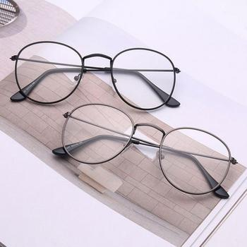 Vintage Round Glasses frame retro Female Brand Designer gafas De Sol Spectacle Plain eye Glasses Gafas eyeglasses eyewear