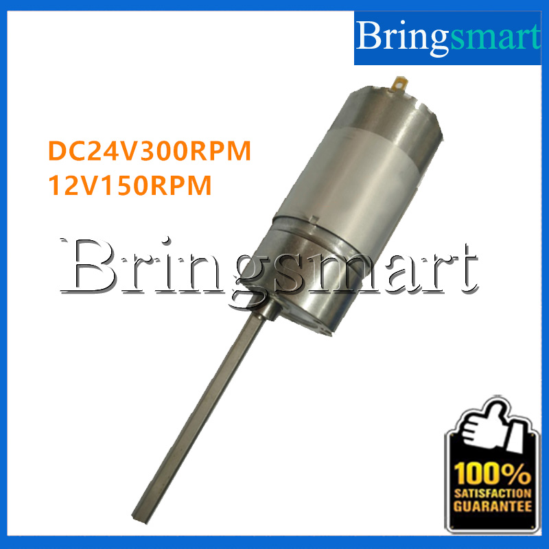 Bringsmart 37GB555 DC Motor Long Axis Motor 12V 150rpm DC Reversed Reduction Engine Gear Motor Low Noise 24V