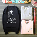 RIPNDIP Sweatshirt Man Women 1:1 High Quality Cartoon Cat Warm Hoodies Rip n Dip Hip Hop Casual RIPNDIP Sweatshirt