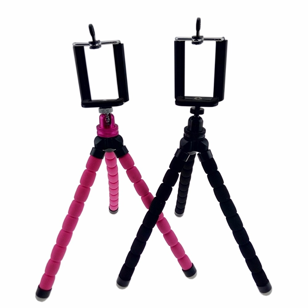 Mini 360 Rotate degrees Ball head Flexible Tripod with phone holder Octopus Tripod Bracket Stand Mount For Phone Gopro camera in Tripods from Consumer Electronics