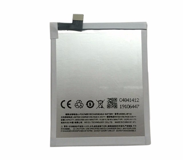 100% Original Backup 3100mAh Battery For Meizu M1 Note Smart Mobile Phone++Tracking Number + In Stock