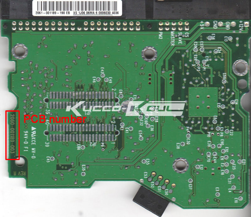 HDD PCB Logic Board 2060-001189-003 REV A For WD 3.5 IDE/PATA Hard Drive Repair Data Recovery