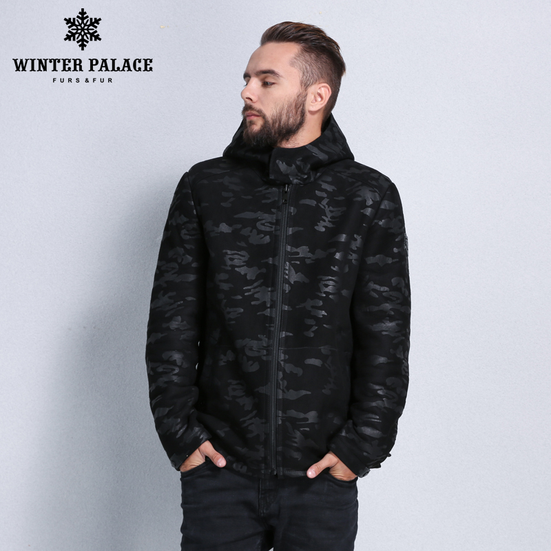 2017 Mode Pelz Mantel Winter Mantel Männer Schaffell Mäntel Männer Pelzmantel Männer Stil Rollkragen Militär Pelz Jacke Schrecklicher Wert
