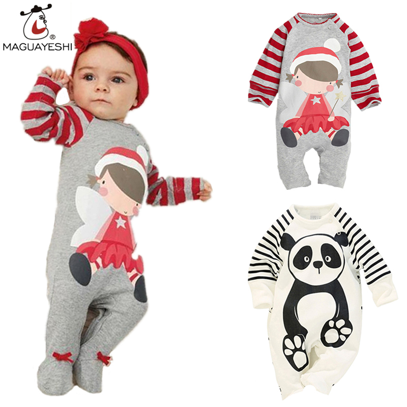 Newborn Baby Clothing Spring Pure Cotton Baby Rompers+Hat Cartoon Infant Girls Clothes roupas de bebe infantil Boys costumes newborn baby clothing spring long sleeve cotton baby rompers cartoon girls clothes roupas de bebe infantil boys costumes