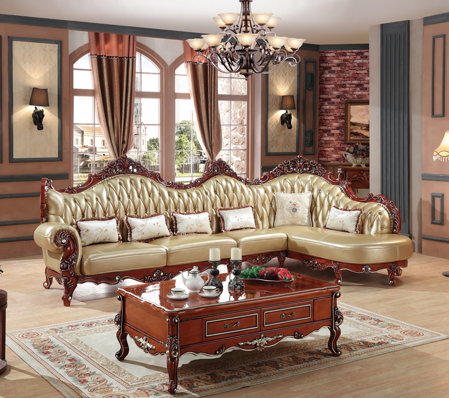 European leather sofa set living room sofa china wooden for Leather sofa family room