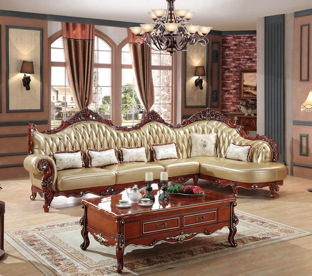 Wildleder Couch European Leather Sofa Set Living Room Sofa China Wooden