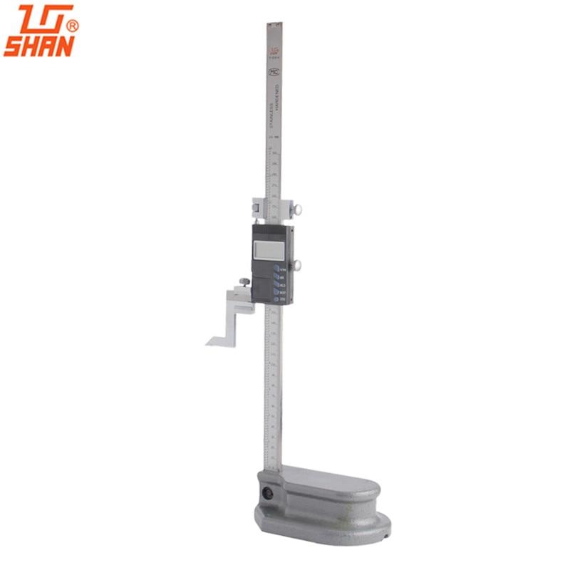 SHAN 0 300 мм прецизионный цифровой датчик высоты из нержавеющей стали Электронный штангенциркуль дюймов/мм измерительные инструменты