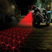 Мотоцикл Анти-столкновения Лазера СИД Противотуманные Фары Задний Фонарь противотуманные Парковка Стоп Тормозная Лампы Предупреждение Хвост Свет Двигателя укладки