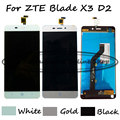 Black/White/Gold LCD+TP For ZTE Blade X3 D2 T620 A452 LCD Display with Touch Screen Digitizer Assembly + Free shipping