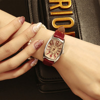 KAYUELI 2019 latest brand fashionable lady watch, small red watch, quartz creative watch, leather belt watch for gifts to lover