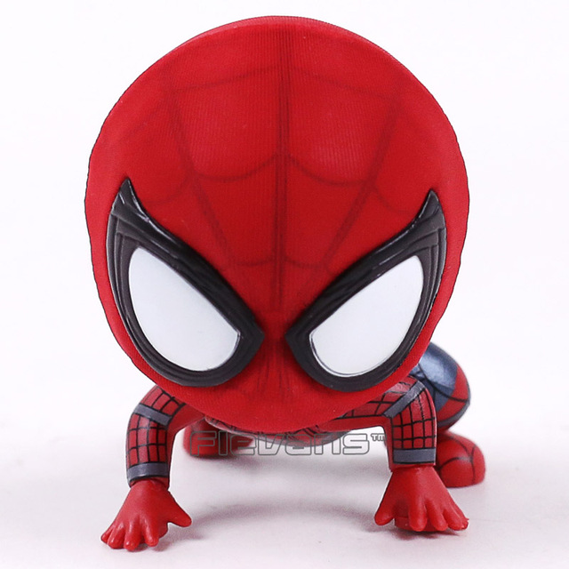 Marvel Spider Man Homecoming The Spiderman Q Version Mini PVC Figures Toys Car Home Decoration Doll 5 Styles 5