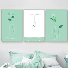 Minimalist Plant Leaf Nordic Posters And Prints Wall Art Canvas Painting Pictures For Living Room Scandinavian Home Decor