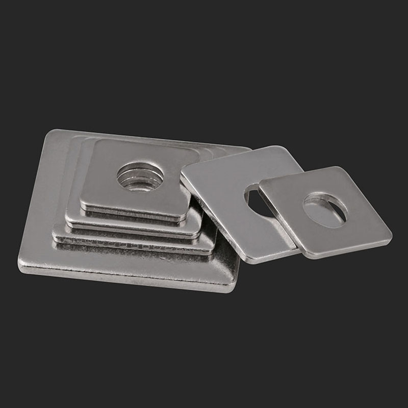 Square Flat Pad Size : 4PCSM8X20X2 Curtain Wall with Square Pad M3//M4//M5-M16 304 Stainless Steel Square Gasket Square Washers Washer Assortment