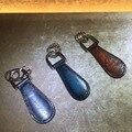 TERSE_Venezin calzador cuero genuino hecha a mano de piel de becerro de los hombres de moda de lujo llavero regalo de la venta caliente OEM ODM