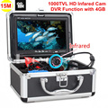 "Free Shipping!Eyoyo SY7000DVR-IR 15M 1000TVL HD Infared CAM Fish Finder Underwater Fishing Video Recorder DVR 7"" Color Monitor"