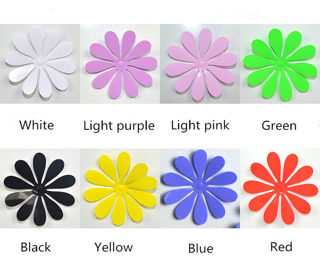 PVC Flowers 3D Wall Stickers Flower Wall Decals For Kids Room TV Wall  Sticker Home Decor