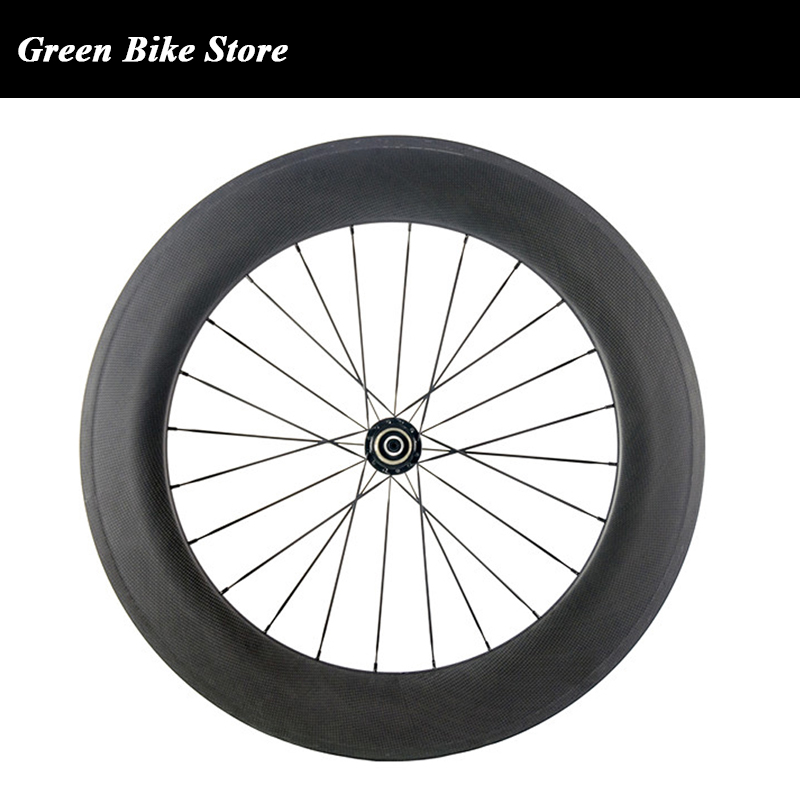 Factory Sale Carbon <font><b>Wheel</b></font> Front Clincher Road 88mm Rear <font><b>Wheel</b></font> <font><b>Bicycle</b></font> <font><b>700C</b></font> <font><b>Wheel</b></font> image