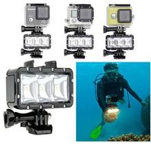 GoPro Аксессуары Подводный Дайвинг водонепроницаемый LED video light + Батарея & пряжка крепление Для GoPro Session/Hero4/3 +/3/Xiaomi Yi