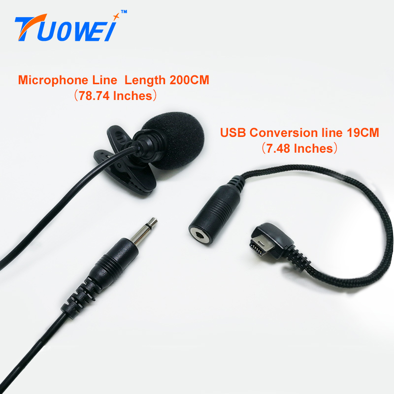 TuoWei for Gopro Stereo Microphone With Gopro No Noise Microphone USB 3 5mm Cable Microphone Professional