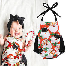 Christmas Newborn Infant Baby Girls Boys Santa Claus Romper baby girl Cute Jumpsuit Outfit Clothes