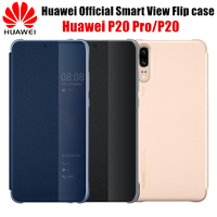 Huawei P20 Pro Case Original 100 Official Smart View Flip Cover Shell Based On PU Leather