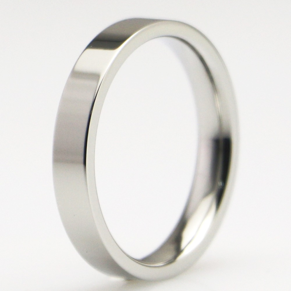 Women mens titanium steel wedding band comfort fit flat for Wedding ring fitters