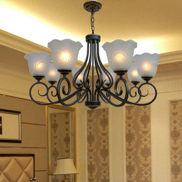 Multiple Chandelier European Style Living Room Lamp Dining Floor Bedroom Lighting Simple Modern Zx41