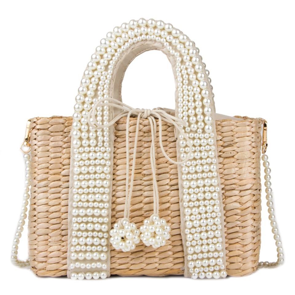 Beach Bag with Pearl (9)