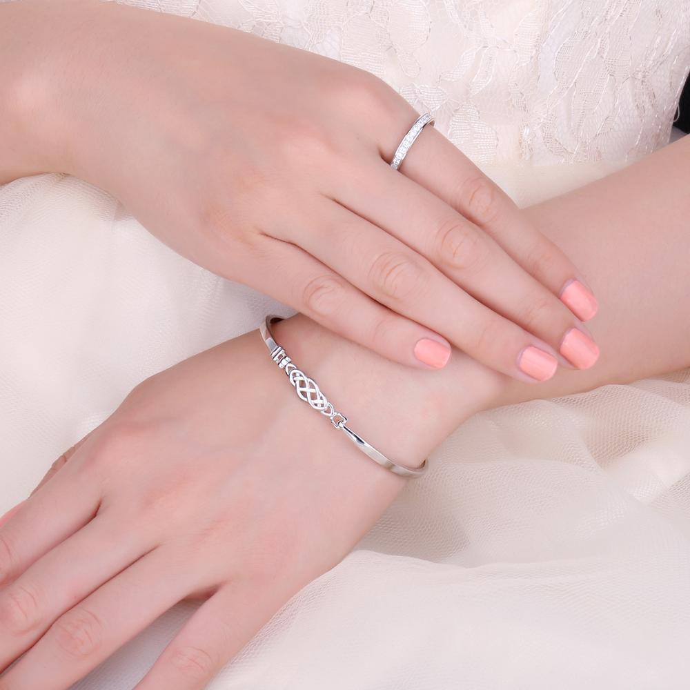 Image 4 - JPalace Crown Celtic Knot Bracelet 925 Sterling Silver Bangles  Bracelet Bracelets For Women Silver 925 Jewelry Making  OrganizerBracelets