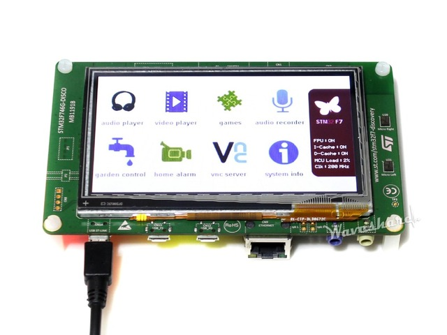 Placa de Desenvolvimento STM32 originais STM32F746G-DISCO 32F746GDISCOVERY, kit descoberta com STM32F746NG MCU