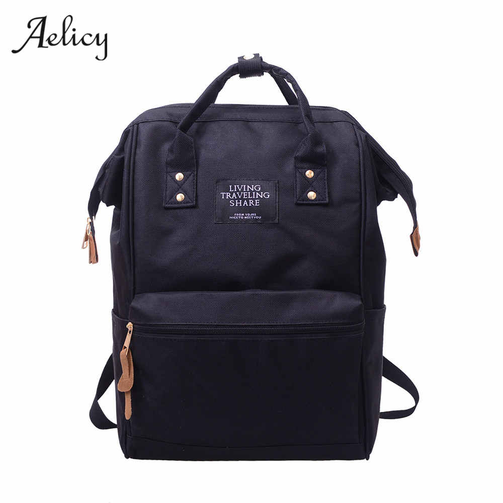 Aelicy Brand Teenage Backpacks Casual Backpack Travel Bag Women Large Capacity School Bags For Girls Laptop Backpack Bags cloth shake new casual women backpack canvas school bags travel backpacks for teenage girls preppy style dots women bag set