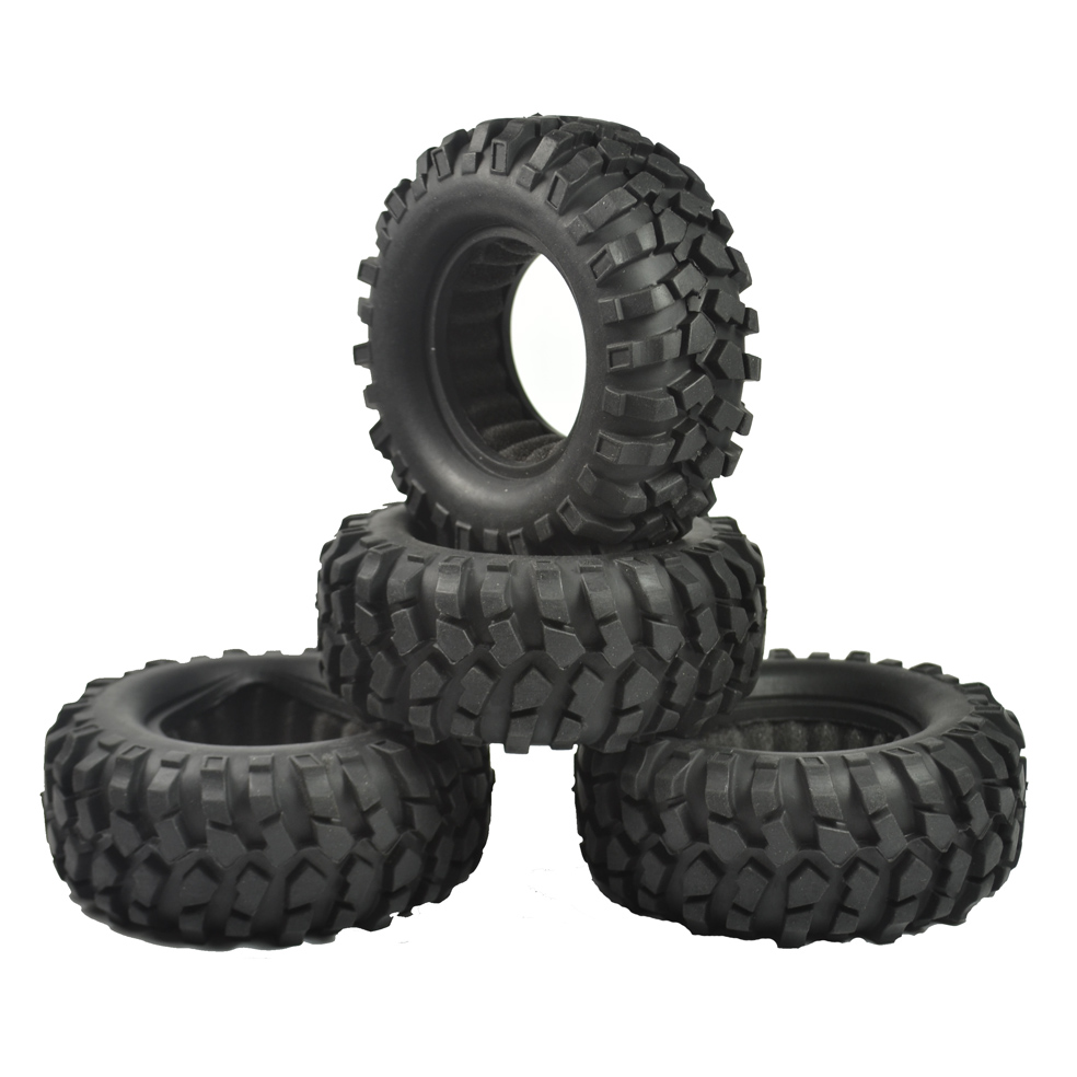 4pcs 1.9inch 96mm RC Tires Rubber Tyre for Rc Crawler RC4WD Axial SCX10 D90 1.9  Wheels 4pcs rc crawler truck 1 9 inch rubber tires